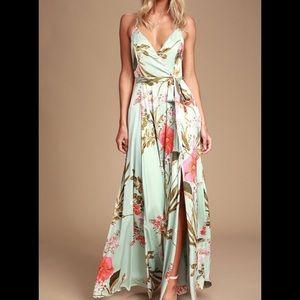Still the one Sage Green Floral Print Dress